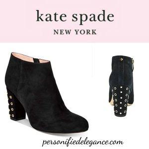Kate Spade Cirra Suede Embellished Booties 11M